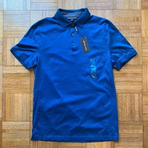 NWT Micheal Kors Blue Polo Shirt, Small S